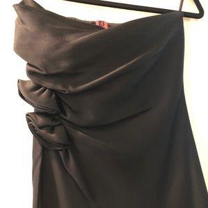 Black Stettin strapless dress